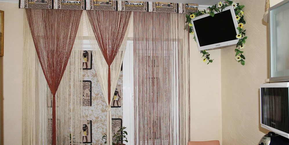 Нитяные шторы – воздушное полотно или танец цвета и нитей