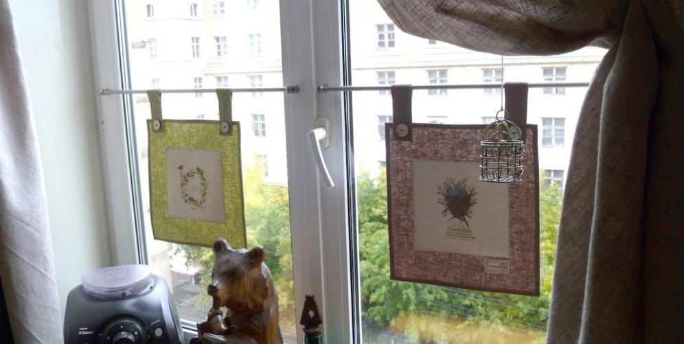 Необычные кухонные шторы своими руками