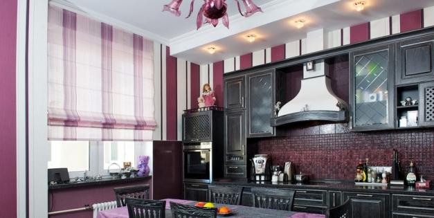 Виды и стили штор для кухни