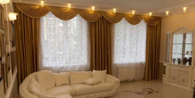 Инструкция к пошиву штор для зала своими руками