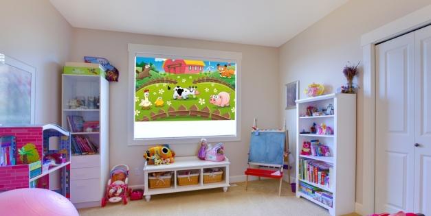 Жалюзи или шторы для детской комнаты?
