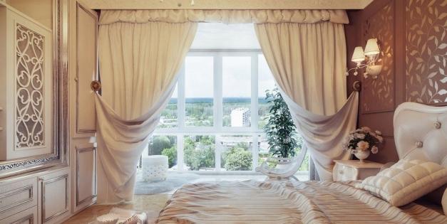 Оформление дверного проема декоративными шторами