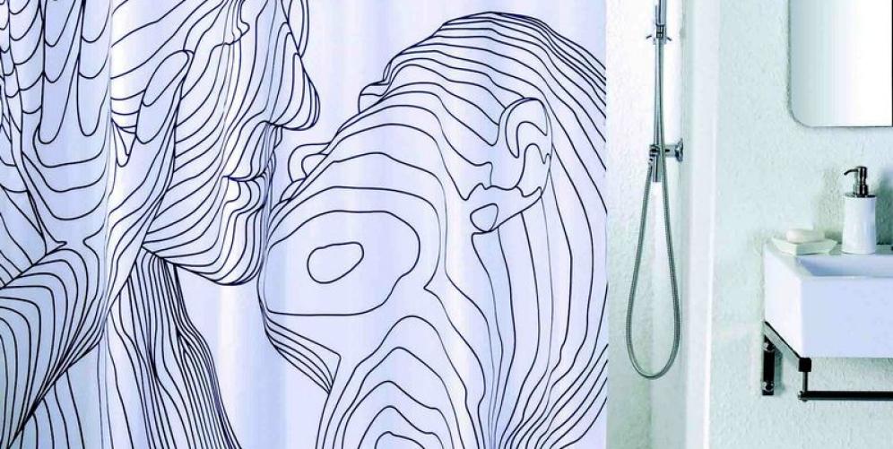 Необычные шторы для ванной