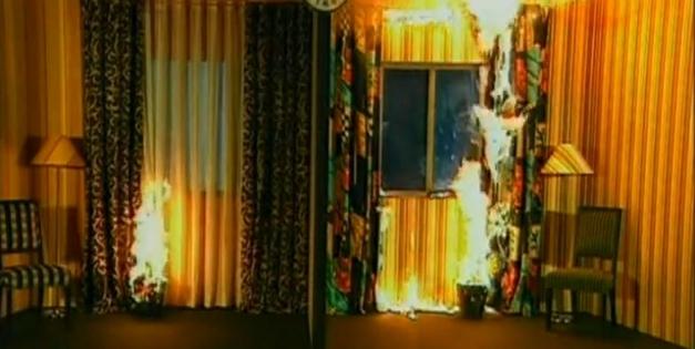Тест на горение штор