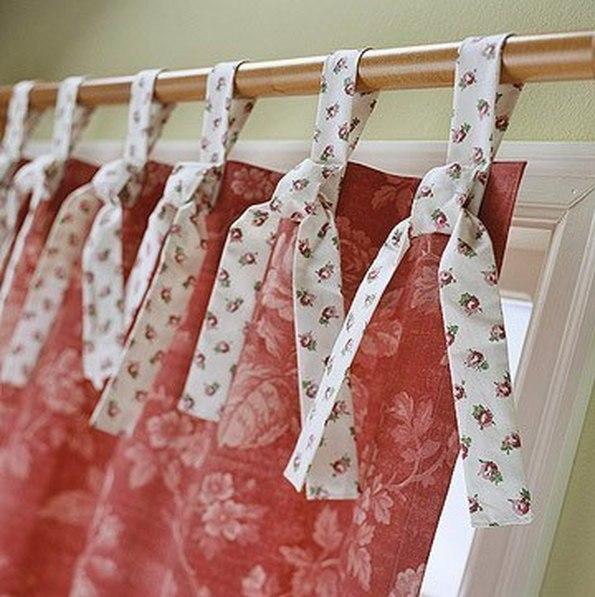 Оригинальные узелки на шторах