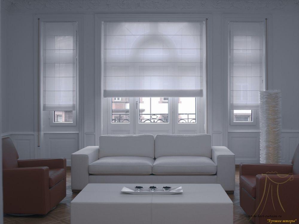 Белые римские шторы