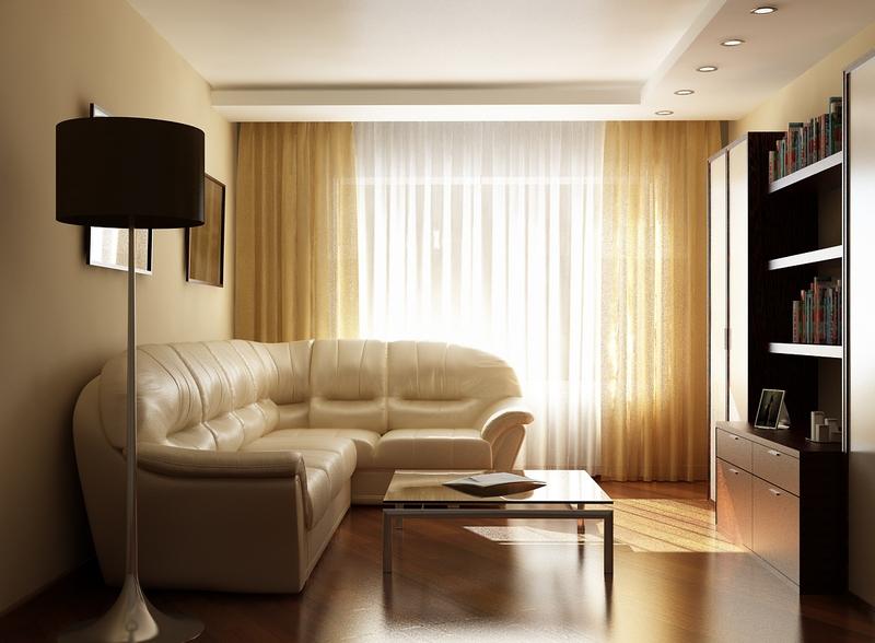 Светлые шторы добавят дополнительное освещение помещению