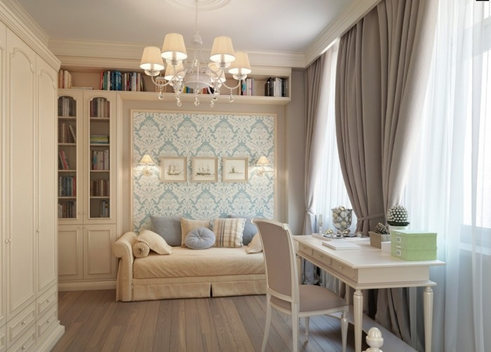 Важно подобрать шторы в одном стиле с помещением