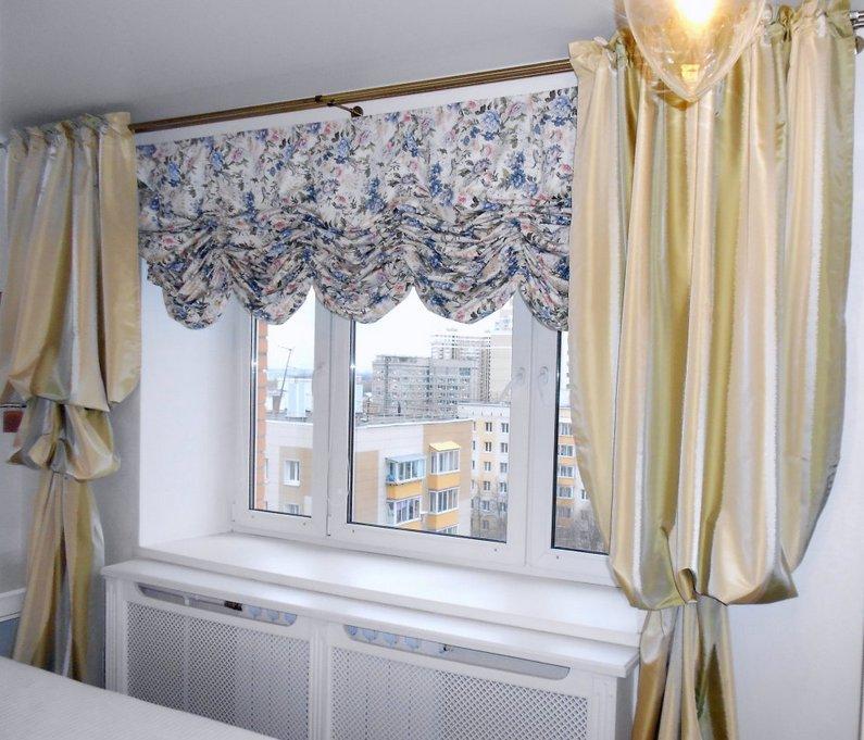 Австрийские шторы отлично подходят для спальни