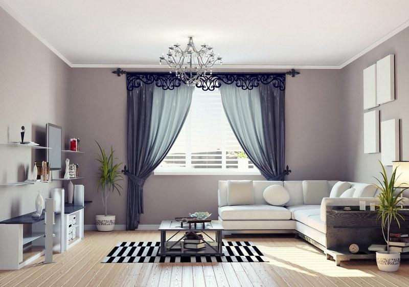 Ажурный ламбрекен в стиль всей комнаты