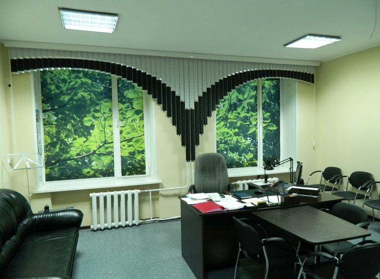 Рулонные шторы с фотопечатью отлично подходят для офисных помещений