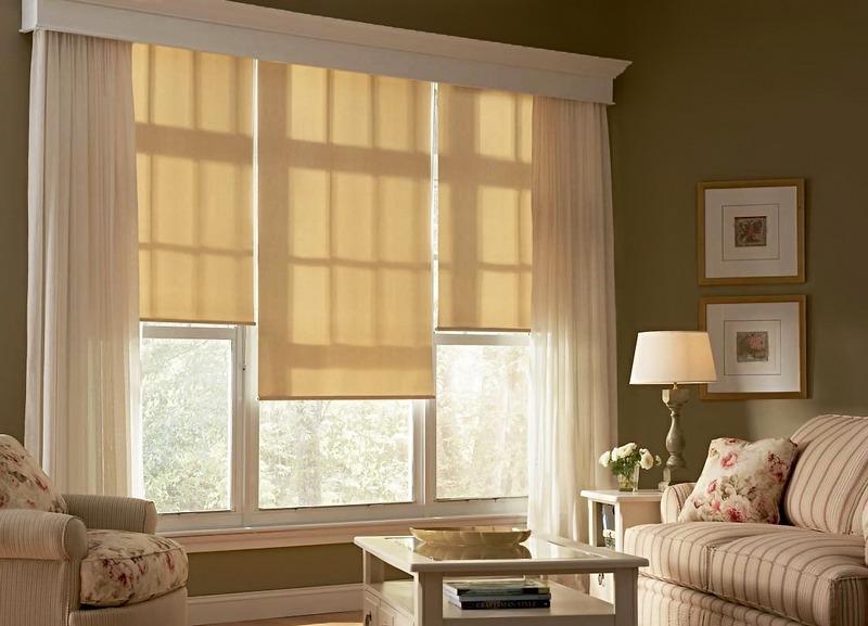 Рулонные шторы очень удобны в любой комнате вашего дома