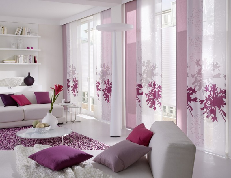 Красивые свежие шторы для гостинной