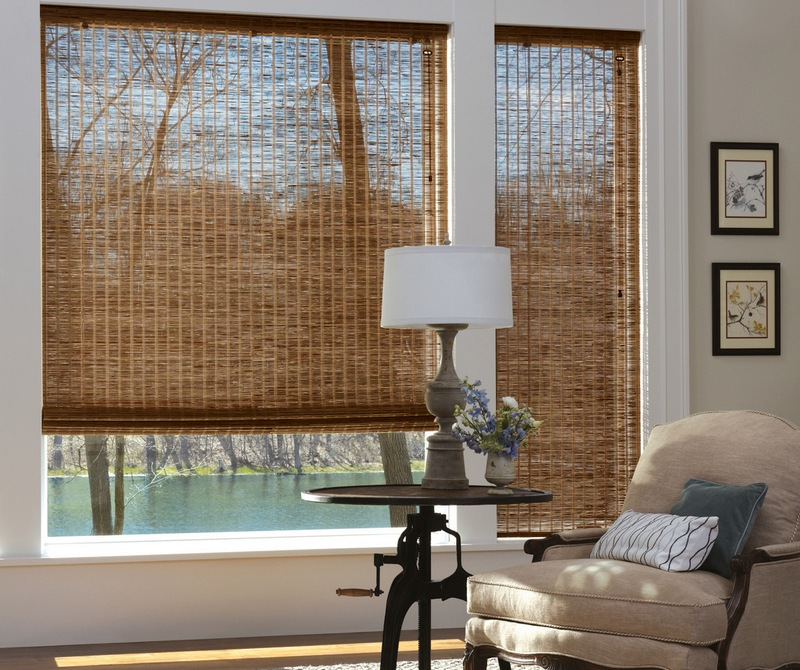 Бамбуковые жалюзи прекрасно пропускают свежий воздух, при этом защищая от солнечного света