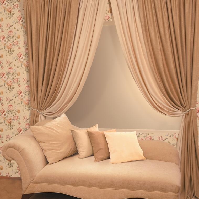 Такие итальянские шторы прекрасно дополнят классический стиль помещения